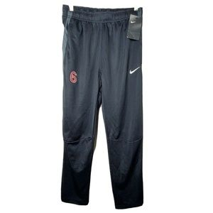 NWT Nike Womens Small Black Embroidered Sweatpants